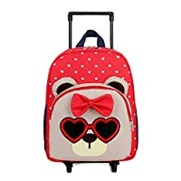 Dumcuw Children Detachable Trolley Schoolbag, New Deluxe Wheeled Trolley Travel Rolling Backpack for Holiday OR School Days, Birthday Gift, 4-7 Years Old