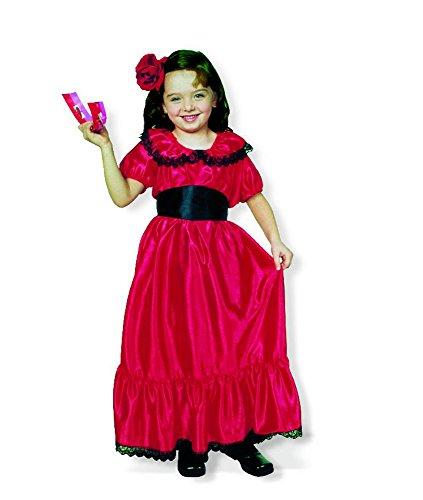 Spanierin Flamenco Tänzerin Kostüm für Mädchen Gr. 116 (Flamenco Tänzerin Mädchen Kostüme)