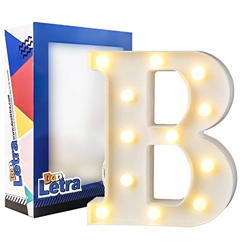 DON LETRA Letras Luminosas Decorativas con Luces LED, Letras del Alfabeto A-Z, Altura de 22cm, Color...