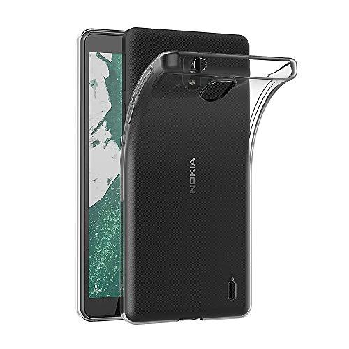 AICEK Hülle Compatible für Nokia 1 Plus Transparent Silikon Schutzhülle für Nokia 1 Plus Case Clear Durchsichtige TPU Bumper Nokia 1 Plus Handyhülle (5,45 Zoll)