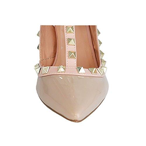 EKS - Scarpe con Tacco Donna Apricot-Lackleder