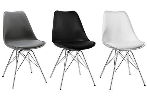 Sedie Di Metallo Vintage : Duhome set di sedia da sala da pranzo in plastica nero design