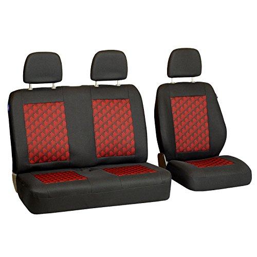 Sitzbezüge Schonbezüge SET QI VW Crafter Kunstleder schwarz