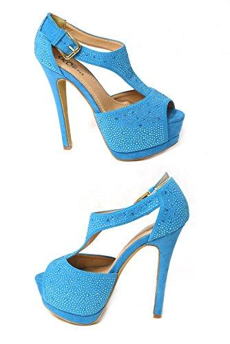 SKO'S  Various designs exclusively low prices !, Escarpins pour femme - Blue (01-19)