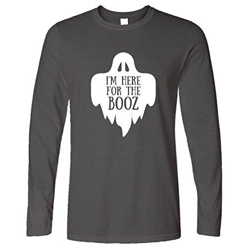 Ich bin hier für das Booz Halloween Slogan Lustige Alkohol (Party Stadt Kostüm Ghost)
