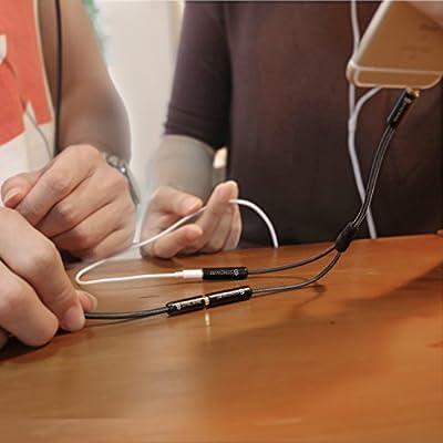 Syncwire Splitter Audio Jack Double Jack 3.5mm Mâle vers 2 Femelle - Splitter Audio Jack pour Casques Audio, Enceintes, Smartphones, Tablettes, Lecteurs MP3 et Plus - 23cm Noir par Syncwire