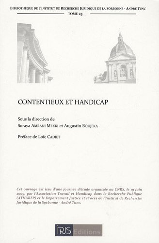 Contentieux et handicap par Augustin Boujeka