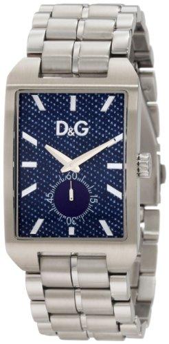 Dolce & Gabbana Hommes Analogique Quartz Montre avec Bracelet en Acier Inoxydable DW0638 D&G