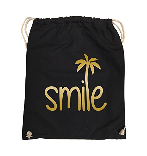 Borse Comiche - Smile - Palm - Turn Bag - 37x46cm - Colore: Nero / Rosa Nero / Oro
