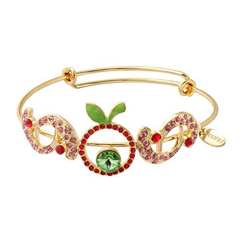 senfai rot Strass Grün Apple Armreif Armband für Mädchen Garment Zubehör (Crystal Wire Armreif)