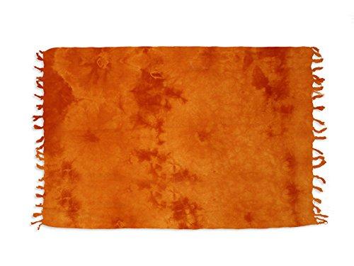 Soleil d'Ocre 402016 Tie and Dye Fouta Coton Orange 175 x 140 cm