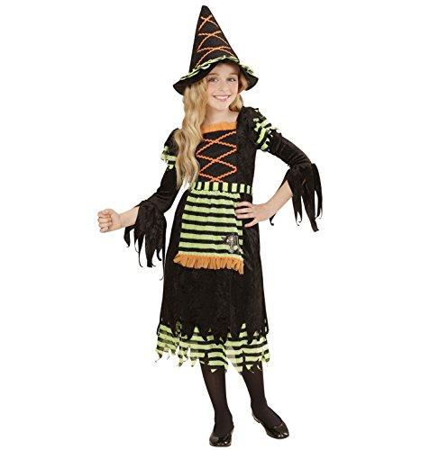 Widmann 05527 - Kinderkostüm Hexe, Kleid und Hut, Größe 140