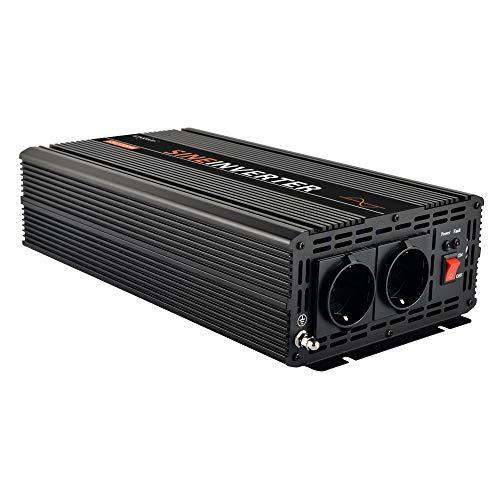 EnRise 1500W Spitzenwert 3000W 12V auf 230V Reiner Sinus Wechselrichter Spannungswandler