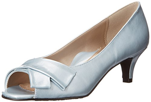 Doux Style Par Hush Puppies Pump Aubrey Dress Blue Fog/Pearlized Patent