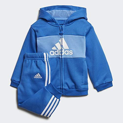 adidas Baby-Jungen I Log Fzhd J FL Trainingsanzug, Blau/Königsblau/Weiß, 74