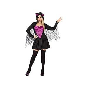 Atosa-26967 guerrero Disfraz Murcielago para Mujer Adul, color violeta, XS-S (26967)