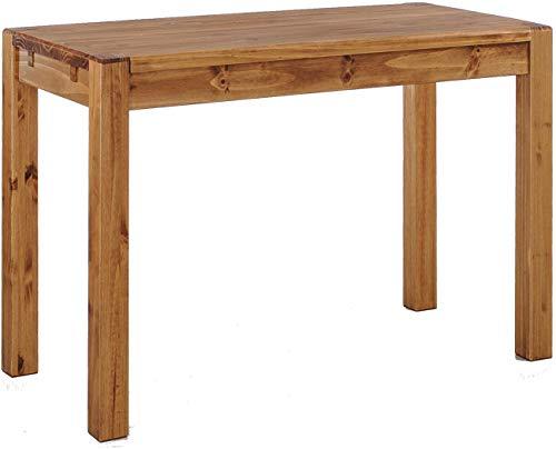 Brasilmöbel Esstisch Rio Kanto 100x73 cm Brasil Pinie Massivholz Größe und Farbe wählbar Esszimmertisch Küchentisch Holztisch Echtholz vorgerichtet für Ansteckplatten Tisch ausziehbar