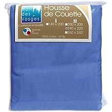 Nuit des Vosges 2104738 Cotoval Funda nórdica Algodón liso Azul Nattier 220 x 240 cm