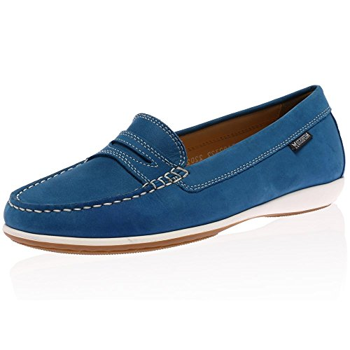 Mephisto Axena Bucksoft Ladies Moccasin Sea Blue UK6 EU38.5 US8.5