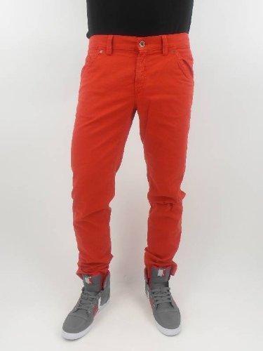 original Masons pantaloni Jeans pantaloni ME303 rosso ribadini borse, nuovo rosso 56