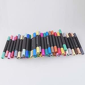 60B Couleurs Portable encre ronde stylo marqueur à base d'alcool