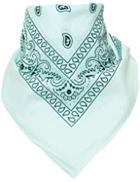 Bandana Scarf with original Paisley pattern in more than 50 colours and design | 100% cotton | black, white, red, blue,