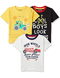 Cherokee by Unlimited Boy's Regular fit T-Shirt (Pack of 3)(Colors & Print May Vary)