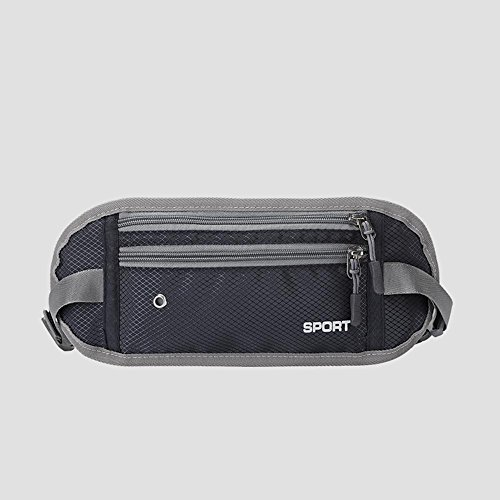 BUSL Frau Wandern Hüfttaschen Sport wasserdichte Outdoor persönliches Telefon Stealth Mini-Tasche läuft Dark Grey