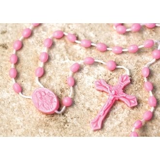 Prison issue Rosary Beads - Pink