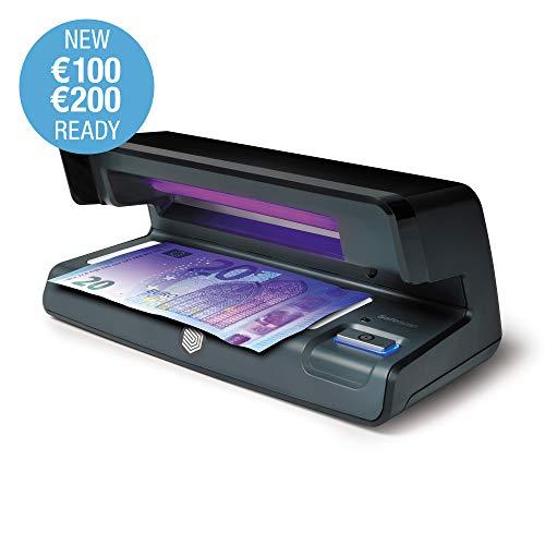 Safescan 70 Black - Verificatore di contraffazione UV con luce bianca LED per il rilevamento di filigrana e microstampa - verifica banconote, carte di credito e documenti d'identità.