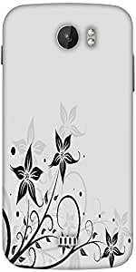 Snoogg Seamless Floral Pattern Abstract Background Designer Protective Back Case Cover For Micromax A110