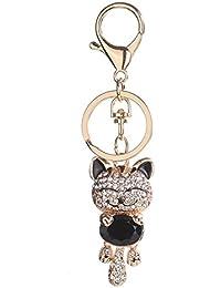 Porte-clés strass en cristal, Chickwin Cute Cat de mode Sac à main Porte 518d3293d75