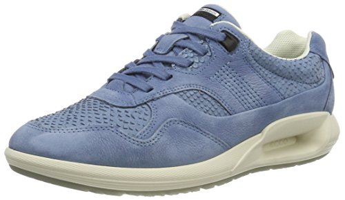 Ecco Damen CS16 Ladies Sneaker, Blau (55335RETRO Blue/Retro Blue), 41 EU