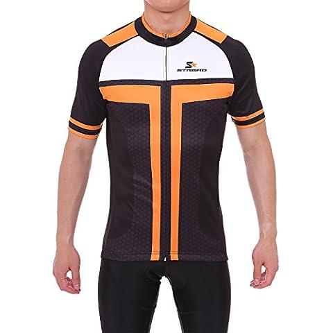 Strgao 2017 Mens Breathable Cycling Short Sleeve Jersey Road Bike Biking Clothing Riding SportswearJacket Bicycle Shirt Size