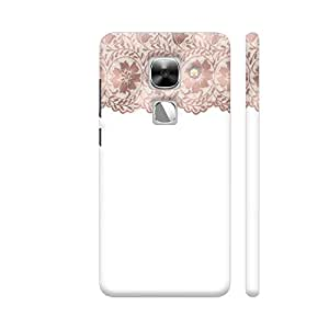 Colorpur LeEco Le Max 2 Cover - Vintage Bridal Shabby Chic Pink Lace On White 8 Printed Back Case
