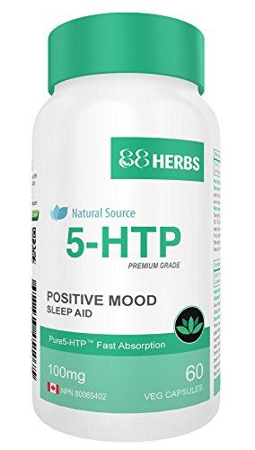 5-HTP - Pharmazeutischer Reinheitsgrad - Nur natürliche Inhaltsstoffe - Schnelle Freisetzung - Kein Magnesiumstearat - 100mg (pro Kapsel) - 60 Vegetarische Kapseln -