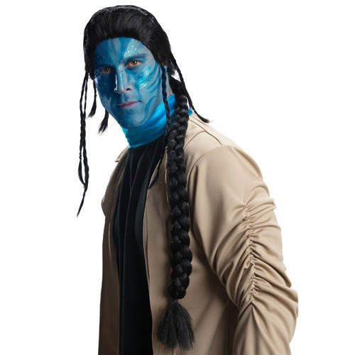 Perücke Jake Sully aus Avatar, schwarz