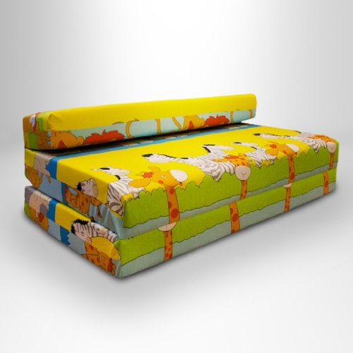 ready steady bed savannah foldout z bed sofa double yellow