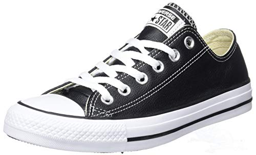 Converse Chuck Taylor All Star Ct Ox Leather, Sneaker Unisex - Adulto, Nero (Black), 43 EU