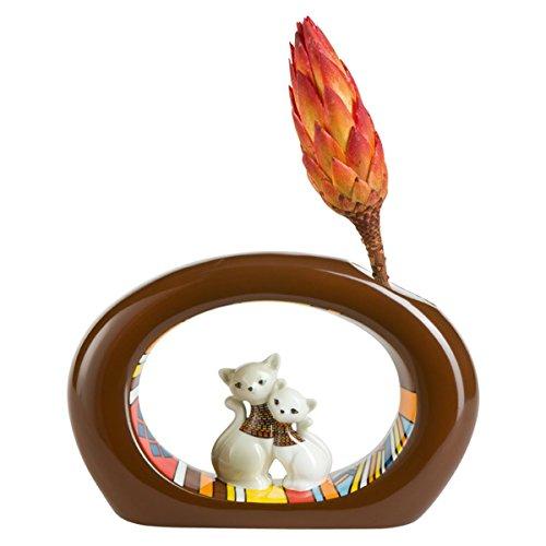 Goebel 66-800-28-5 Porzellan Vase, Afrikan Kitty -