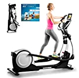 Proform Smart Strider 495 CSE Vélo elliptique pliable, compatible Bluetooth Appli iFit Cardio (abonnement en option), 18 programmes,...