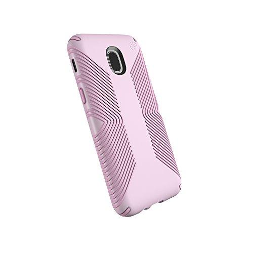 Speck Products Schutzhülle für Samsung Galaxy J3 (passend für Verizon J3 V 3rd Gen, at&T Express Prime 3, Cricket Amp Prime 3, Sol 3; T-Mobile J3 Star), Presidio Grip Case, Ballet Pink/Ribbon Pink (Galaxy Case Speck Samsung Express)