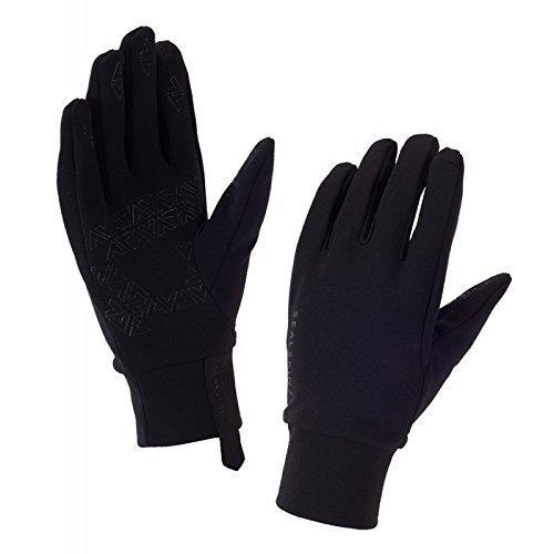 SealSkinz Herren Stretch Fleece Nano Gloves, Black, L Stretch-herren-fleece