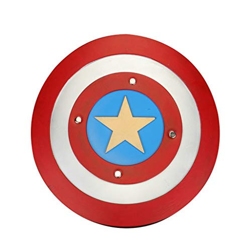 Captain America Shield Waffen Marvel Avengers Assemble Erwachsene Kostümzubehör Krieg Requisiten von Halloween Kostüme Zubehör für die Osterfeier,Multicolor,43CM