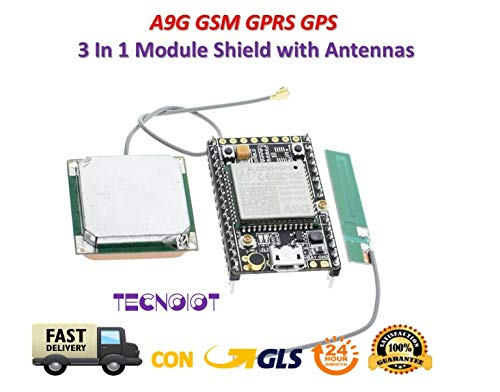 A9G A9 GSM GPRS GPS BDS Module A9G Core Pudding Development Board with Antenna (Gps-gprs)