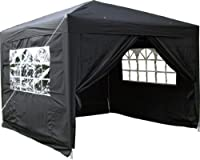 Airwave 3x3mtr Pop Up Waterproof Gazebo Black