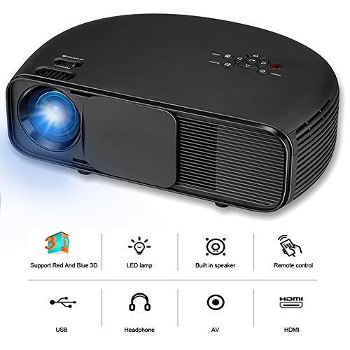 QLPP Video-Projektor mit 3200 Lumen LED 95% Light Uniformity Full HD Support 1080P, kompatibel mit Dual-HDMI und USB, VGA-Kopfhörer Composite AV für Movie Party Game - Crystal Ceiling Mount