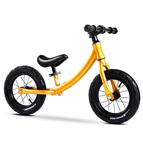 LBWT Laufrad - Leichtgewicht Kinderlaufrad Rutschbahn Kein Pedal Spielzeugfahrrad Kinderlaufrad Roller (Color : Yellow)