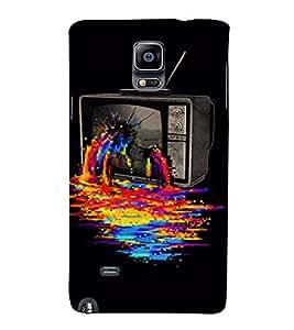PrintVisa Color TV Fantasy Design 3D Hard Polycarbonate Designer Back Case Cover for Samsung Galaxy Note 4