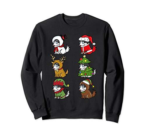 Husky Xmas Kostüme Lustiger Hund Weihnachten Geschenk  Sweatshirt